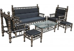 (SF) 6 pcs Sankheda Sofa Set