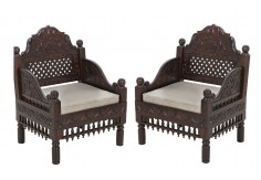 (RA-4) 2 pcs Classic Chair set (dark brown)