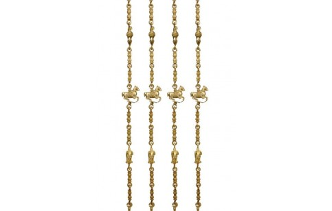 (BS-1) Bras Chain Set for Swing (machined & antique finished)