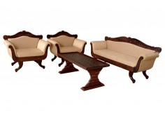 (RC-2) 3 pcs Royal Sofa & Chair Set, fine carved