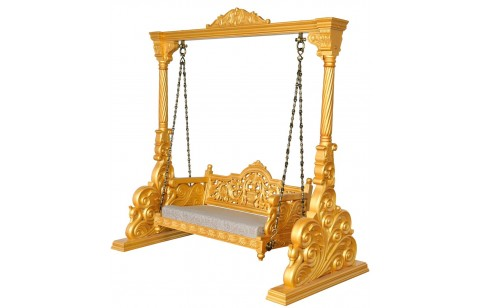 (WC-2b) Carved Swing MAYUR (gold)