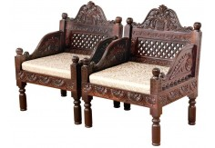 (RA-7) 2 pcs Classic Chair set (dark brown)