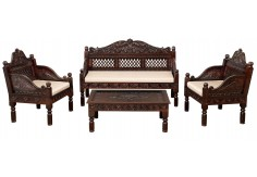 (RA-7) 4 pcs Classic Set, dark brown