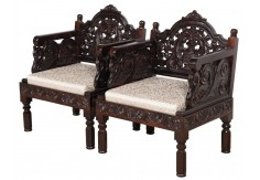 (RA-8) 2 pcs Classic Chair set (dark brown)