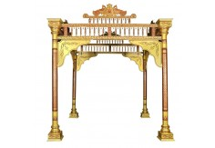 Sankheda Wedding Mandap (4 pillars design, Copper Red)