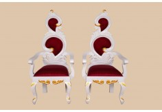 WD-1 2pcs Wedding Chair Set (White Gold)