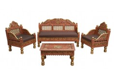 (RA-3) 4 pcs Classic Sofa Set (copper)