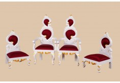 WD-1 4pcs Wedding Chair Set (White Gold)