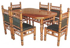 6 pcs Sankheda Dining Set