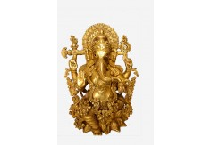 (TSG-2) Brass Statue of Ganesha 16""