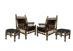 (SCH) 4 pcs Sankheda Chair Set