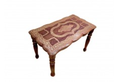 (TD-24) Table Rectangle (carved & brass embossed)