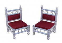2 pcs Sankheda Low Height Chair set