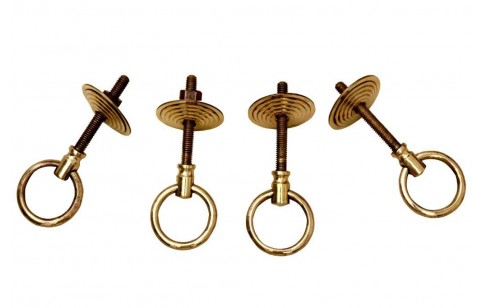 4 pcs Brass I-Bolts Set (hooks for seat)