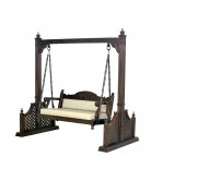 (WC-1) Wooden Swing (screen carved, polished dark brown)