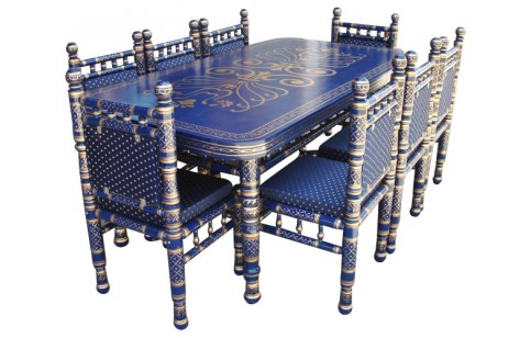 (SDN-T8) 8 Chairs Sankheda Dining Set (Rectangle)