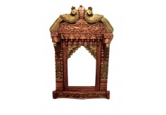 (TD-15) Decorative Wall Panel / Jharokha (peacock carving)