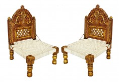 (RA-1) 2 pcs Pidha Chair set (copper finish)