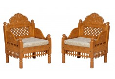(RA-4A) 2 pcs Chair set (Teak wood)