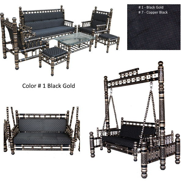# 1 Black Gold with black cushions