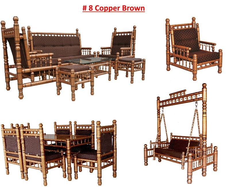 # 8 Copper Brown with brown cushions